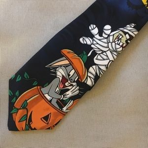 VTG Halloween themed holiday Looney Tunes tie